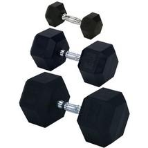 Champion Rubber Encased Solid Hex Dumbbell, 30-... - $58.97
