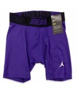 Jordan Men's Alpha 6'' Compression Shorts Court Purple NIKE Dri-Fit  865... - $27.99