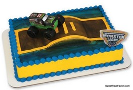 Monster Jam Cake Decoration Topper Party Supplies SET Birthday Truck Races Cars - $12.82