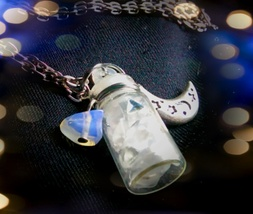 Moonstone Spell Bottle Pendant Necklace - $20.00