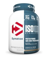 Dymatize Nutrition Iso 100 Whey Protein Powder, Cookies and Cream, 3 Pou... - $67.08