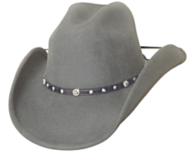 Bullhide Balled Up Wool Classic Cowboy Hat Cattleman Rivets Conchos Conc... - $64.00