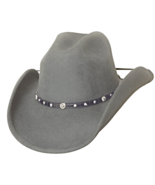 Bullhide Balled Up Wool Classic Cowboy Hat Cattleman Rivets Conchos Conc... - ₹4,833.47 INR