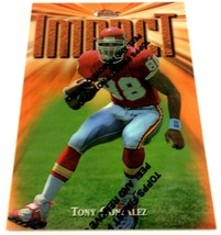 Tony Gonzalez 1997 Topps Finest Rookie Card #269 NFL HOF Kansas City Chiefs - $5.89
