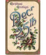 December 25th Post Card vintage 1911 - $3.00