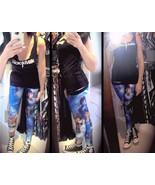Women Blue Star Wars Yoda Pants Digital Print Athletic Yoga Leggings Ski... - $21.99