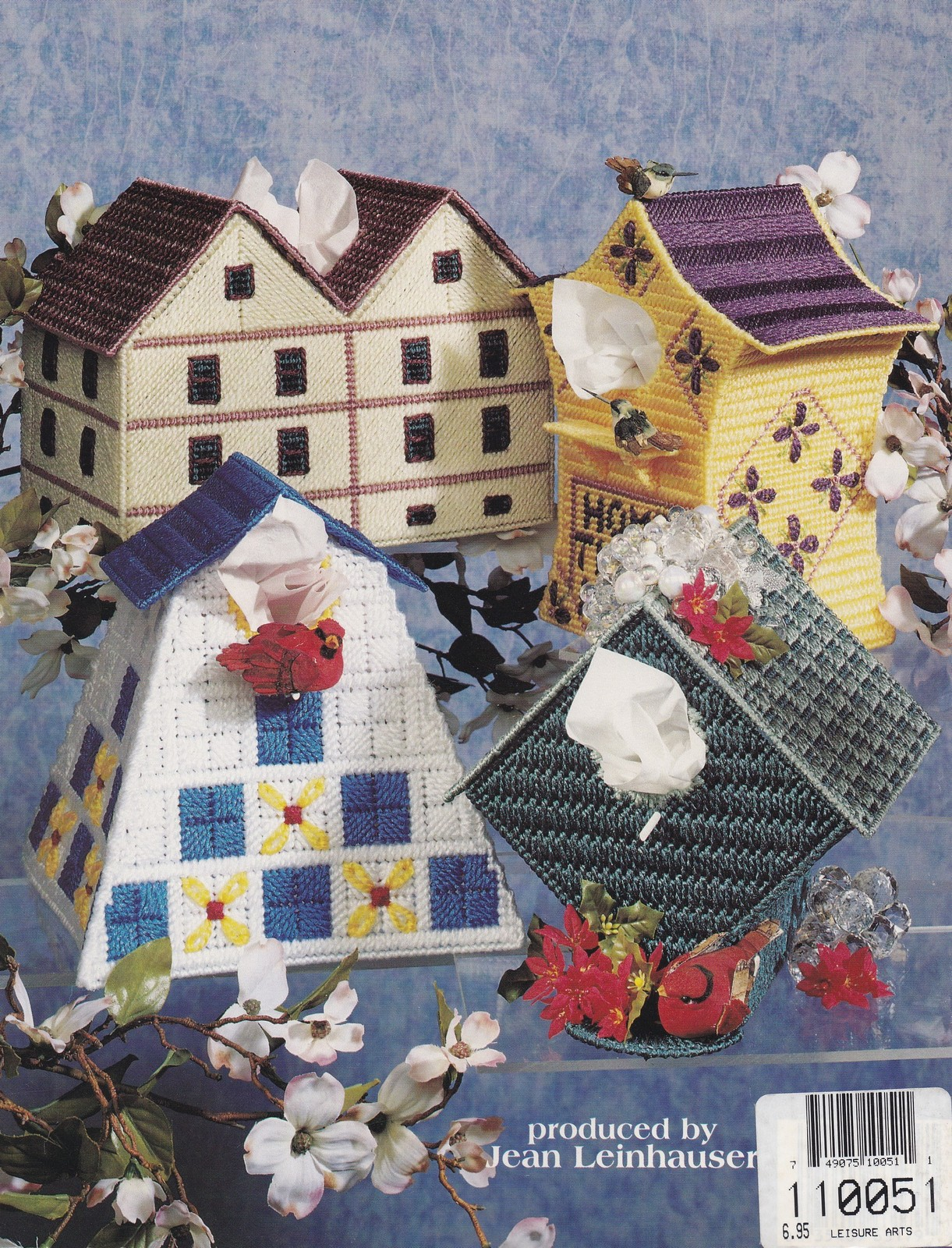 Birdhouse tissue box covers plastic canvas pattern asn for House of patterns