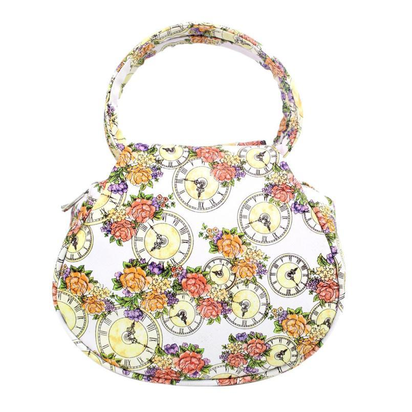 Men bags flower clock leather shoulder bag satchel handbag casual travel beach bags bolsa clutch