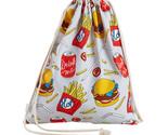 N women backpack solid white drawstring beam port shopping bag travel bag gift bag thumb155 crop