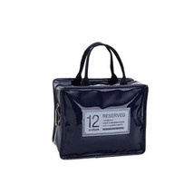 Trunk Bag Enamel Leather Lunch Bag White-Collar... - $22.07