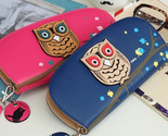 PurseWallets Long Cute Owl Glasses Printing Wallet Female Clutch Card & Id Holde