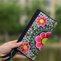 Characteristics Bag Ethnic Style Coin Purse Vintage Small Embroidered Ba... - $12.10