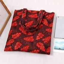 Ry brand red handbags autumn leaves printing shoulder bag shopping bag travel bag women thumb200