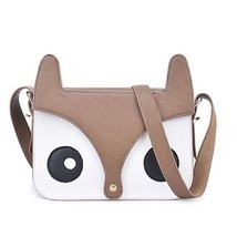 casual embossed handbag handbagstote shoulder bag cartoon fox leathermes... - $14.57