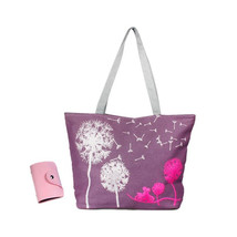 Canvas Handbag Shoulder Beach Bag Satchel Shopping Messenger Dandelion I... - $15.10