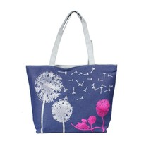 canvas tote bagCanvas Handbag Shoulder Beach Bag Satchel Shopping Messen... - $15.15