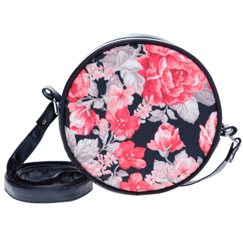Fashion women s shoulder bags lady style flower pattern pu leather handbag women s flower bag