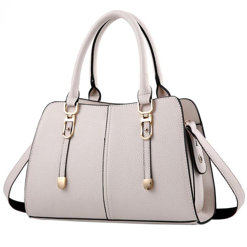 016 new large capacity luxury vintage pu leather women handbag high quality top handle tote bags