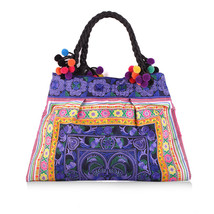 national trend embroidered bags handmade flower embroidery ethnic cloth ... - $66.86