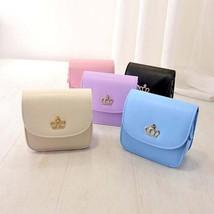 Crown Leather Handbag Cross Bodys pu leather handbag shoulder bag elegan... - $18.12