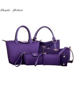 big picture 6 PC handbags durable nylon fabric with PU bag - $147.98