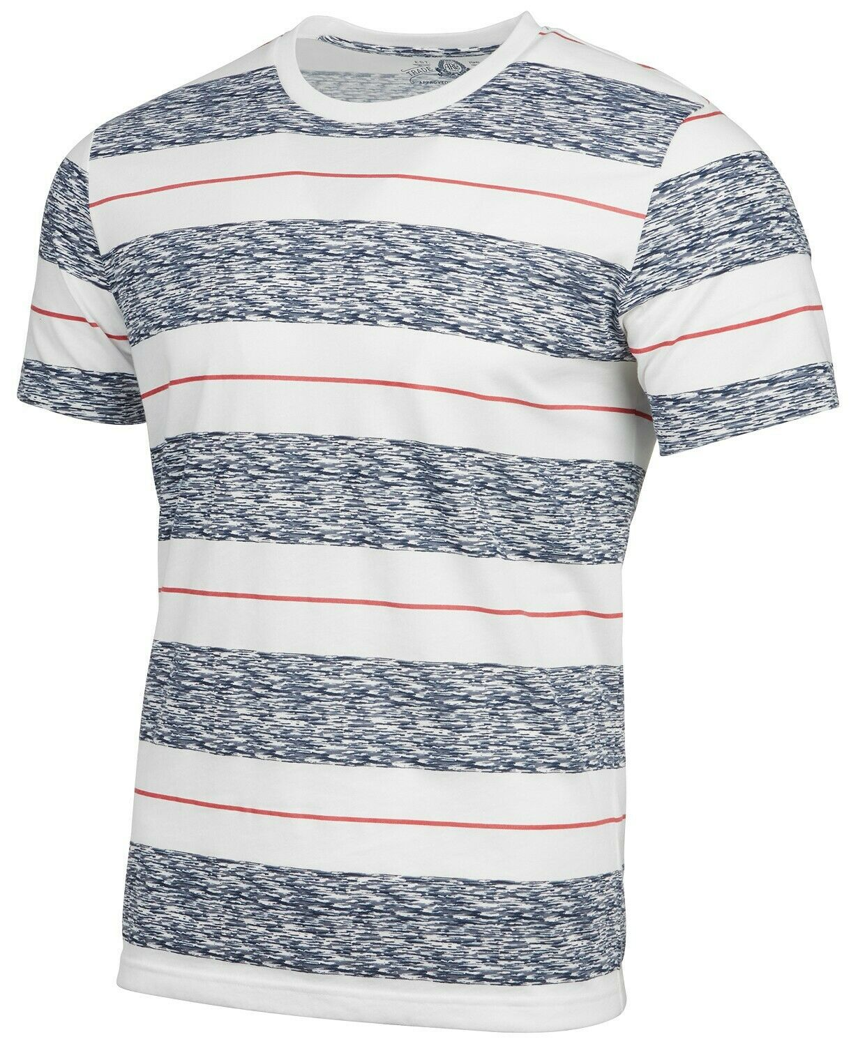 American Rag Men's Heathered Striped T-Shirt, Bright White, Size XL