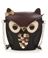 Design Little Owl Shoulder Bags PU LeatherHandbags Creative Stereoscopic... - $20.98