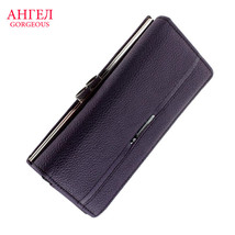 Leather Purse ForLongWallets With Zipper Coin Pocket Card Holders Carteira - ₨1,375.61 INR