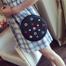 trend Handbag Shoulder Bag mini small roundbags Lnclined shoulder bag  - $21.38