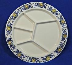 "Cadiz by Villeroy Boch 9.75"" FONDUE PLATE yellow blue Luxemborg G60 - $39.99"