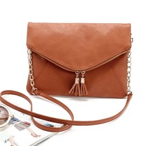 shoulderbag satchelssolid Office Messenger Shoulder Bagsleather handbags - $21.53