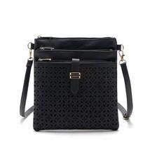 handbag handbags Retro Drawstring pumping with hollow Shoulder BagsCross... - $23.90