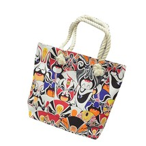 Handbag Canvas Printing Shoulder Beach Bags Casual Female Tote Shopping ... - $24.12