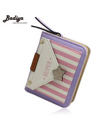 Striped Lady Change Purse PanelledWallets Portable Carteira Small Star W... - $24.26