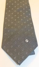 Vintage Gianni Versace Gray Black Geometric 100% Silk Made In Italy Hand... - $42.06