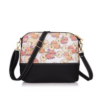 Floral leather shoulder bags s Satchel Handbag Retromessenger bag  Lady ... - $24.47