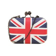 famous bagss Handbags England British Flag VintageMini Shoulder Bag clut... - $25.28