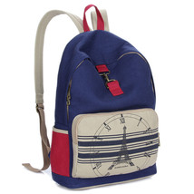 CanvasBackpack Large Female Over Shoulder Bag College School Bag For Teenagers T - $29.60