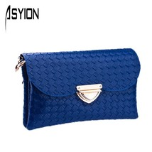 Crossbody Shoulder Bags Braided Pattern OccidentKnittingmessenger bag PU... - $29.63