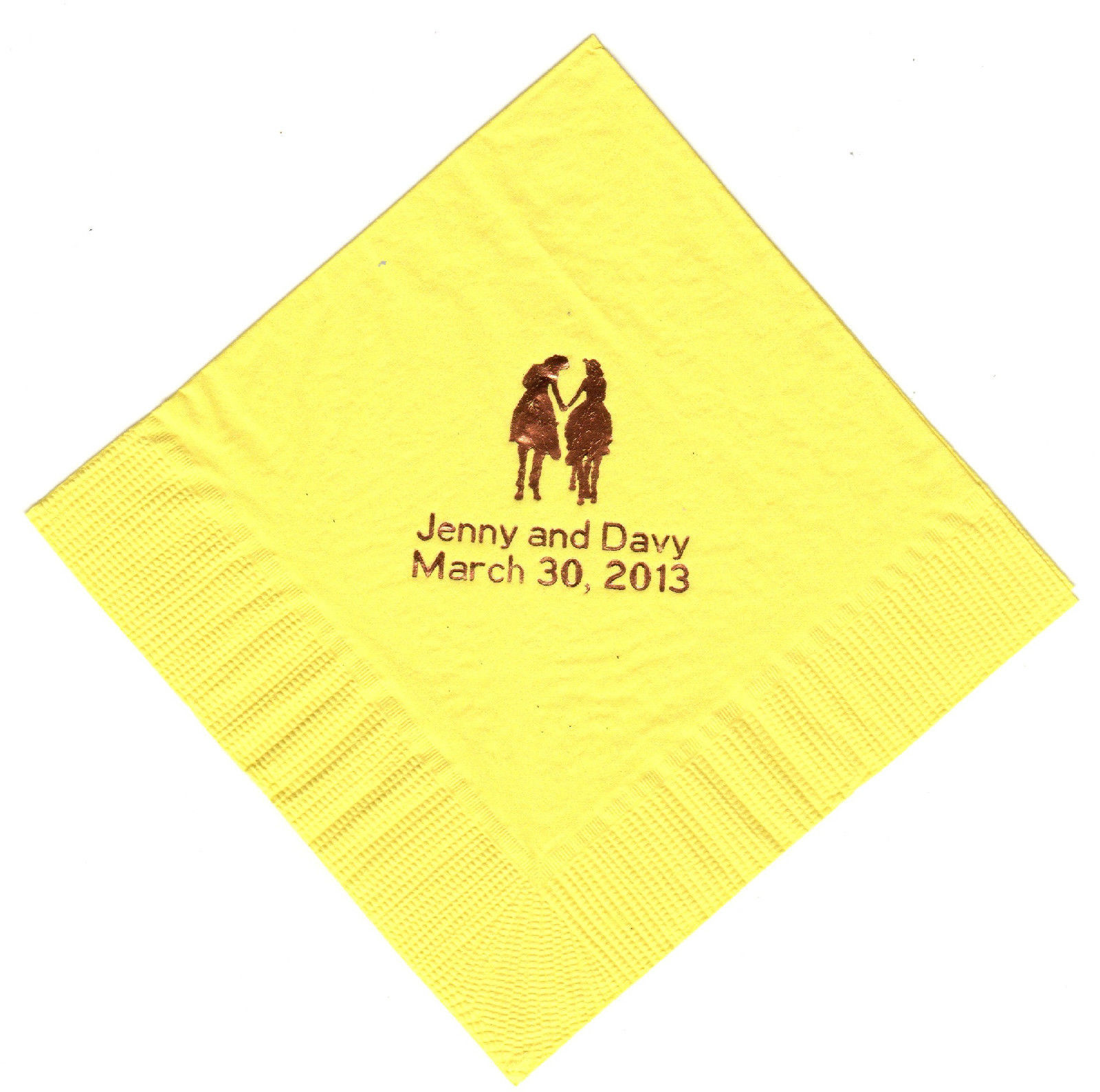 WESTERN ROMANCE LOGO 50 Personalized LUNCHEON DINNER beverage napkins
