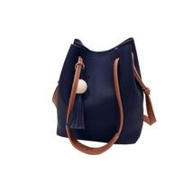 handbag female PU leathers Handbags Bucket Bag Vintage Shoulder Bag Tass... - $33.31