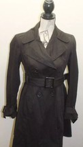Classic Zara Basic Women Black Trench Coat Belt Small Fitted Lined Winte... - $53.96