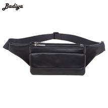 Zipper DesignWaist Bag Multi Layer Fanny Pack Design PU Leather Travel F... - ₨2,463.22 INR