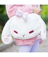 new super cute lolita mori girl white bunny rabbit head plush handbag mini lop clutch thumbtall