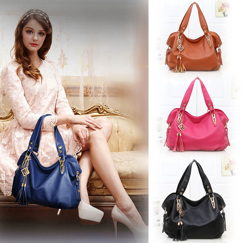 2016 hot sale solid bag medium 30 50cm single handbags luxury ladies pu leather shoulder satchel