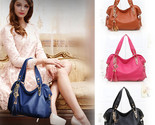 Solid bag medium 30 50cm single handbags luxury ladies pu leather shoulder satchel thumb155 crop