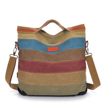 Stripe VintageShoulder Pouchmessenger bag Canvas Handbags Handbags Patch... - $46.81