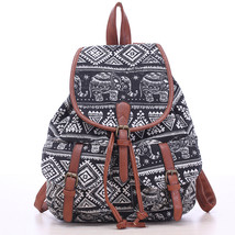 Summer canvas backpacks Vintage style casual fl... - $54.48
