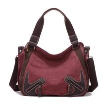 VintageHandbag Style Canvas Large Tote Shoulder bagMessenger Bags Purse #25 - $55.13