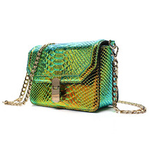 messenger bag Snake Skin Serpentine Crossbody Bags For Girls Shoulder Ba... - $56.51